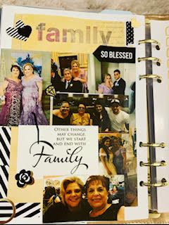 family pictures from planner